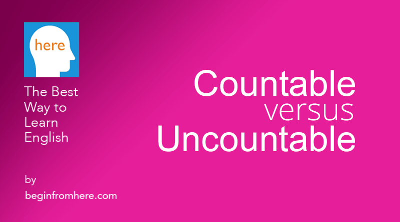 countable vs uncountable