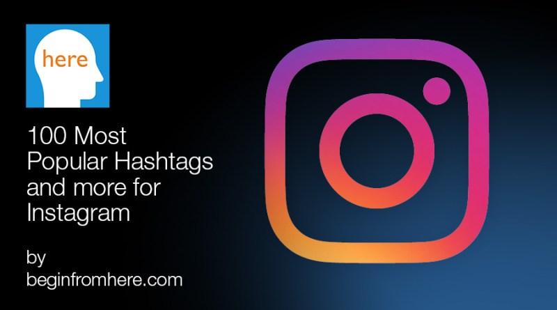 100 most popular Instagram hashtags