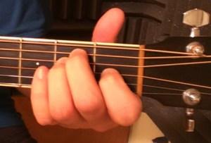 E major guitar chord front view