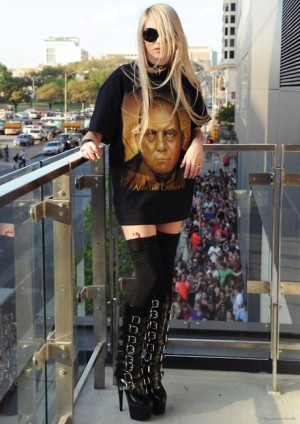 Ciara Hermetic Order of the Golden Dawn boots and coat | New World order Satanic influence in music.