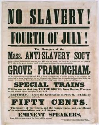 Abolitionist Poster William Lloyd Garrison | Does the Bible Condone Slavery?