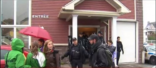 Quebec Life Coalition Abortion Protestors | Activists storm church