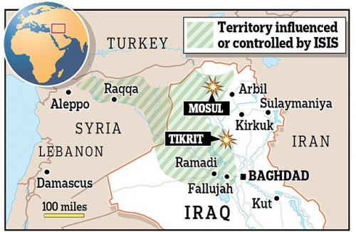 Map courtesy of the UK Daily Mail.
