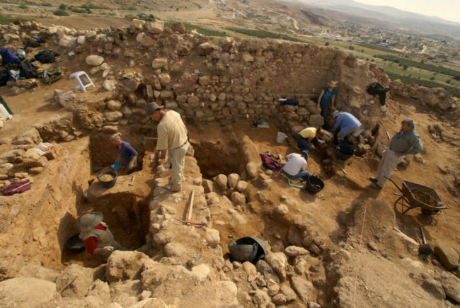 Collins and his excavation team in action. | Archeological evidence of the Bible