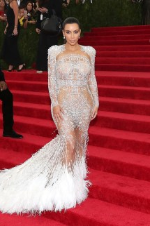 "NEW YORK, NY - MAY 04: Kim Kardashian attends ""China: Through the Looking Glass"", the 2015 Costume Institute Gala, at Metropolitan Museum of Art on May 4, 2015 in New York City. (Photo by Taylor Hill/FilmMagic)"