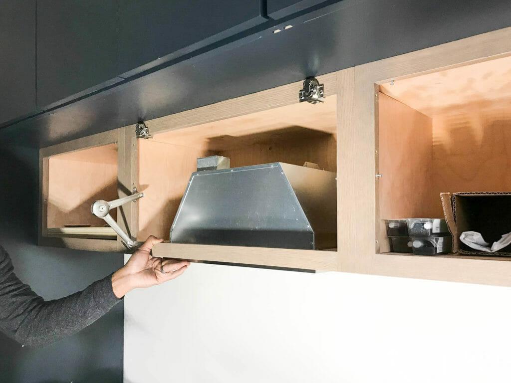 how to install a hidden range hood in