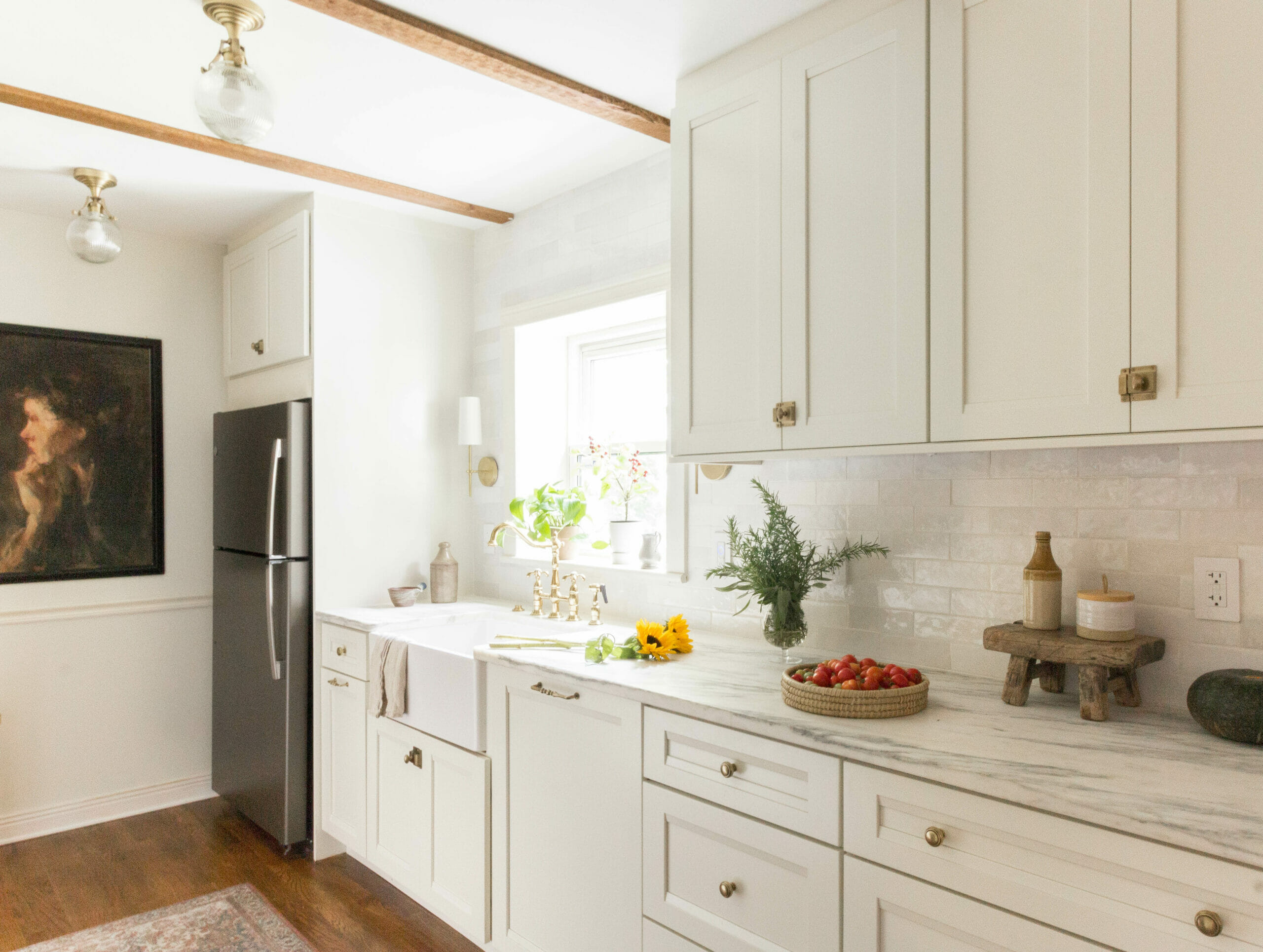 kitchen reveal at white cape cottage