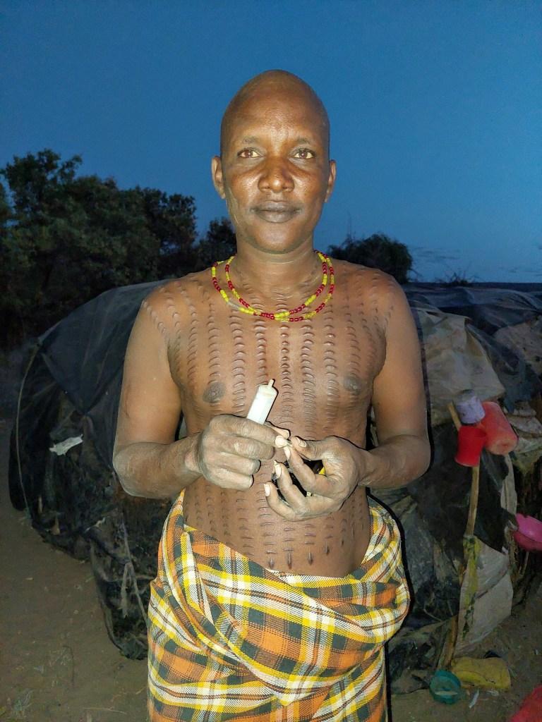 Daasanach Man in his homestead