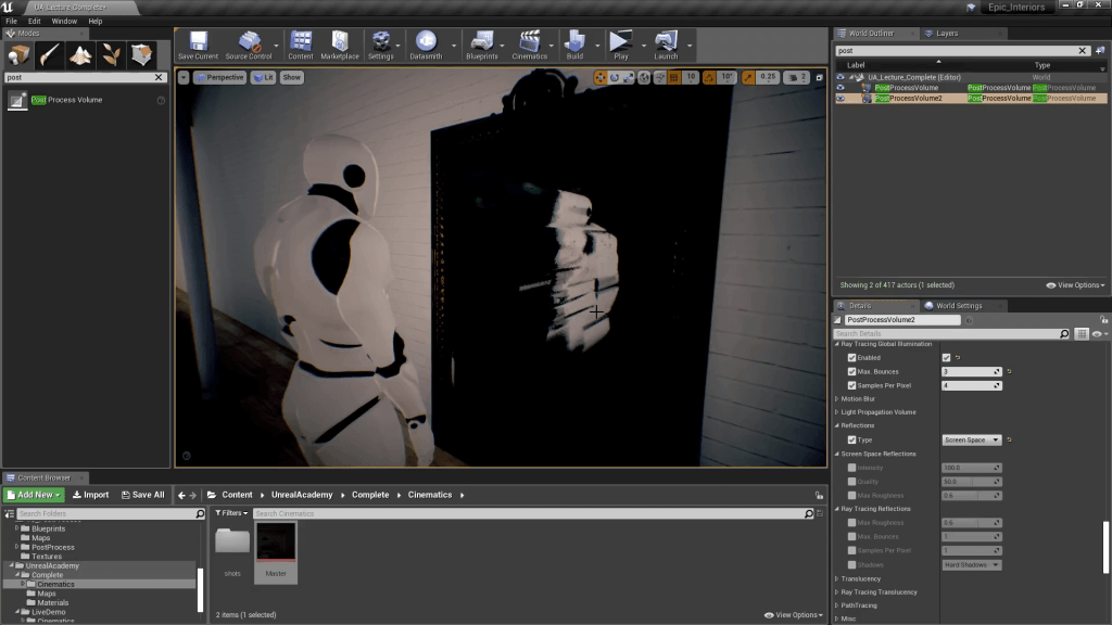 Unreal Engine 4 Post Processing - Screen Space Reflections