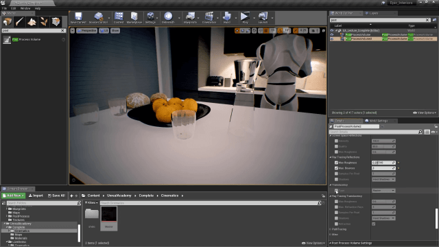 Unreal Engine 4 Cinematic Quality Post Processing - Raster Transculency