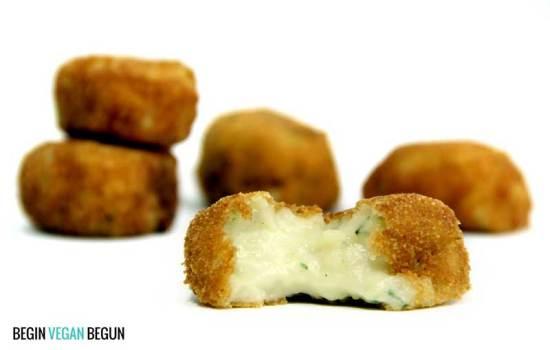 Croquetas veganas de calabacín y queso