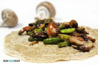 Receta de crepes veganos salados