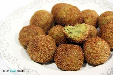 coquetas veganas de lentejas y alga kombu