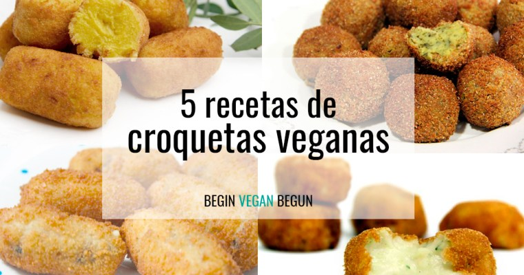 5 recetas de croquetas veganas