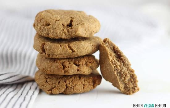 Galletas de crema de cacahuete con tres ingredientes
