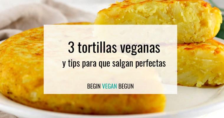 3 formas de hacer tortilla de patatas vegana y tips para que salga perfecta