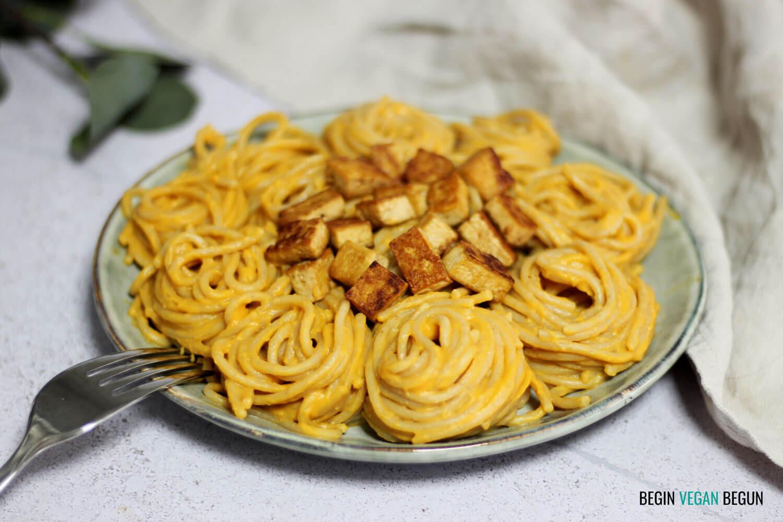 Espaguetis en salsa de calabaza
