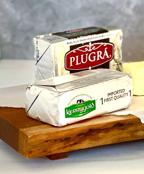 Picture of Plugra and Kerrygold Butter.