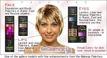 Virtual Hairstyle Selector Online BeGlamorous Com