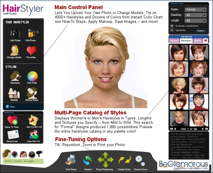 Short Hairstyles Test Them On Your Photo Virtual Online Hair