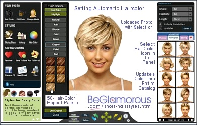 Short Hairstyles  Test them on Your Photo  Virtual