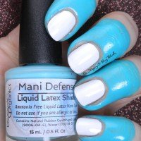 Ellison's Organics Mani Defense Liquid Latex Shield review + nail art