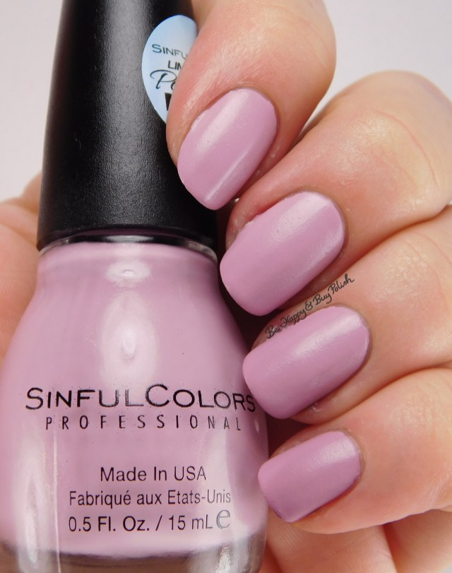 sinfulcolors porcelain matte nail