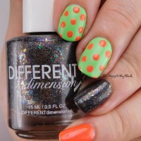 Pick Three Polishes: Anchor & Heart Vacation Land, Different Dimension Magic Mirror, Baroness X Santa Monica Mint nail art