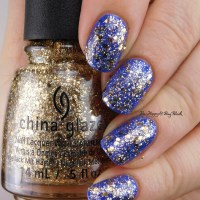 China Glaze I Sea the Point + Counting Carats swatches + review
