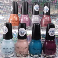 Sinful Colors Desert Divas Stoned Crystal Shimmer nail polish collection swatches + review