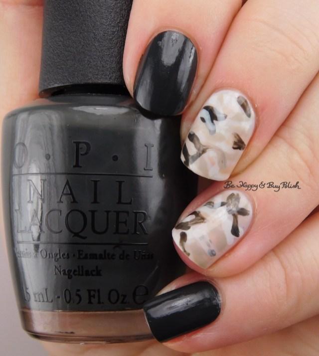 failed camouflage nail art