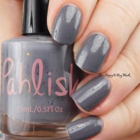 Pahlish grey mystery nail polish swatch + review
