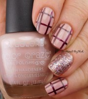 plaid nail art with l. colors