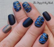 camouflage nail art with polish