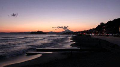 七里ガ浜の夕日2