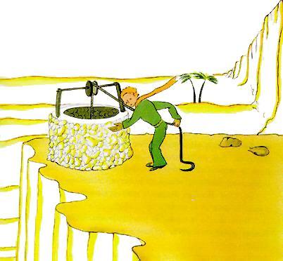 شهریار کوچولو در �الِ کشیدنِ آب از چاه