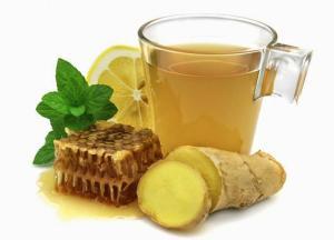 drinking ginger tea