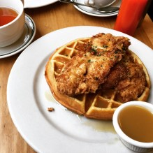 Chicken and waffles at Clinton Street Baking Co.