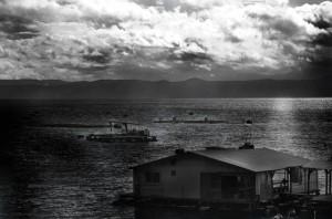 Fisher Hause near to the vulkan Sakurajima