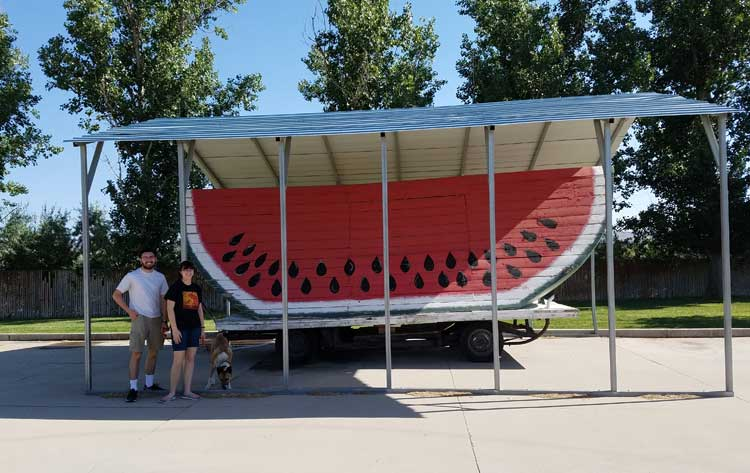 big trip 13 stops to see the world's largest watermelon in green river, UT