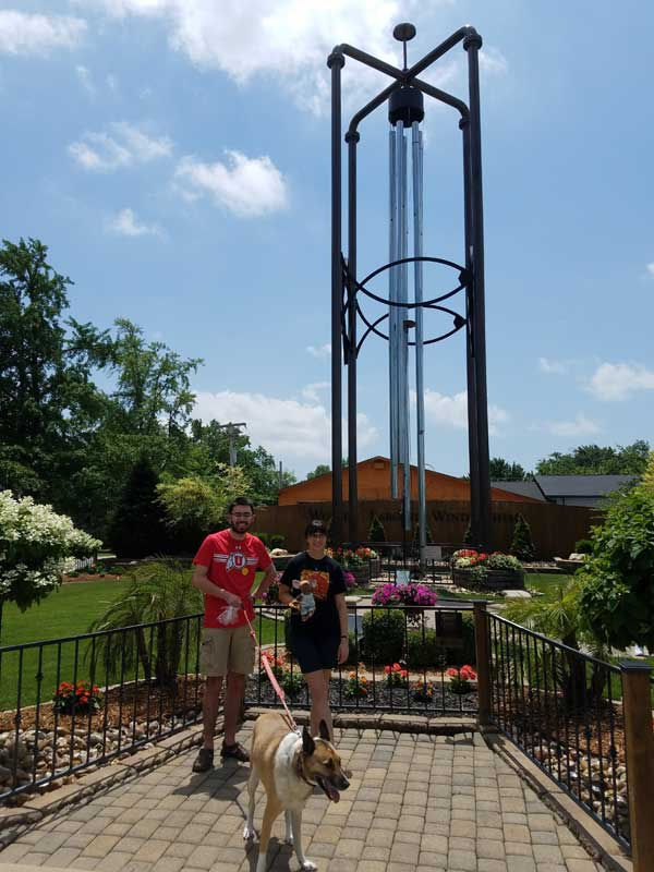 big trip 13 at the world's largest windchime in casey, IL