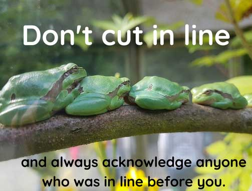 don't cut in line return to civility
