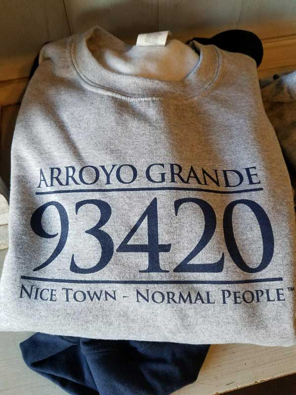 arroyo grande ca nice town normal people TM cafe andreini tshirt