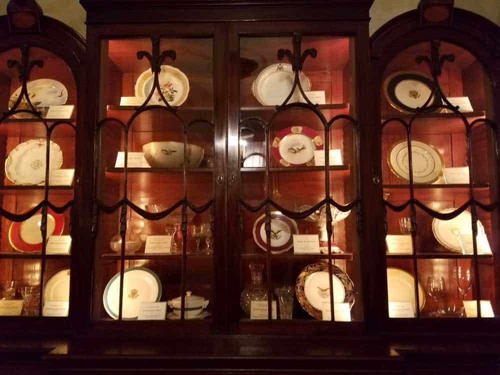 China Cabinet at the White House