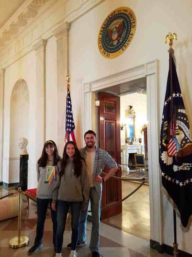 Another prime photo op at the White House - under the Presidential Seal