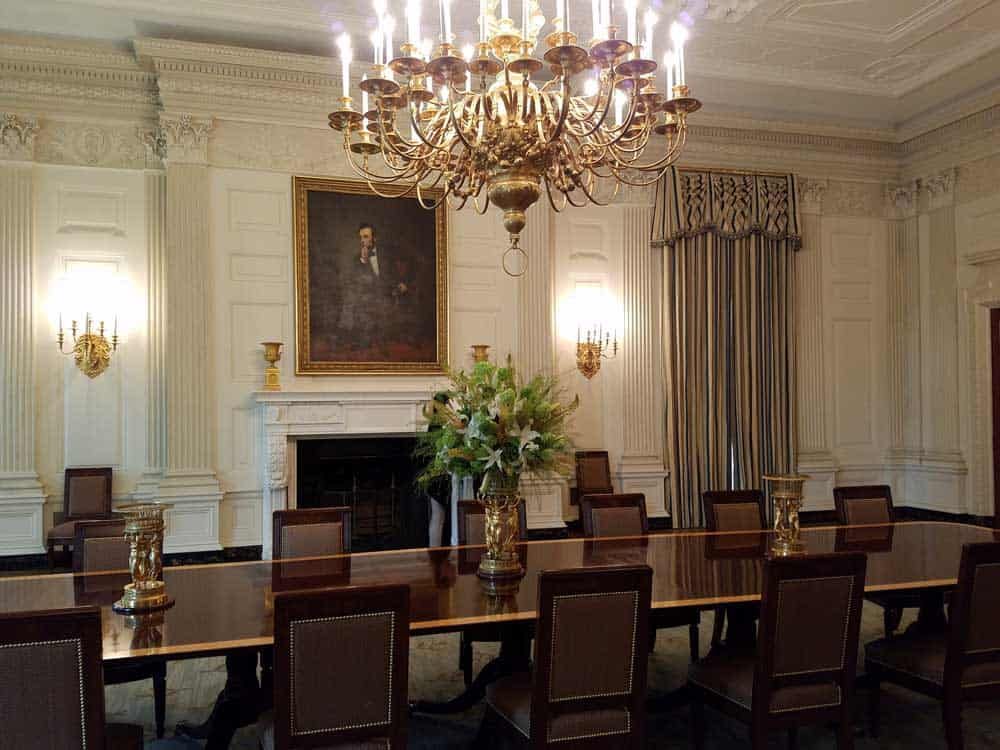 The State Dining Room at the White House