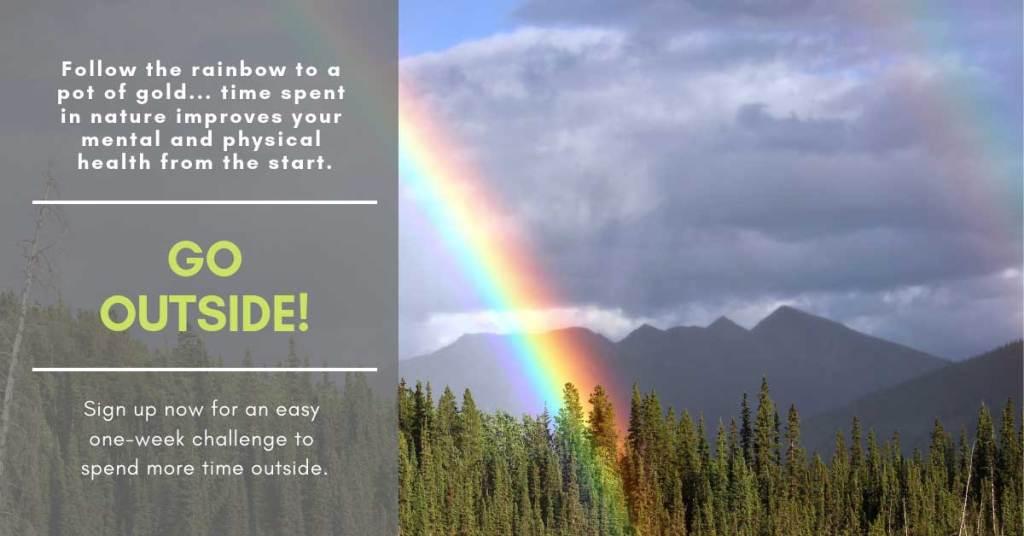 go outside #optoutside rainbow challenge