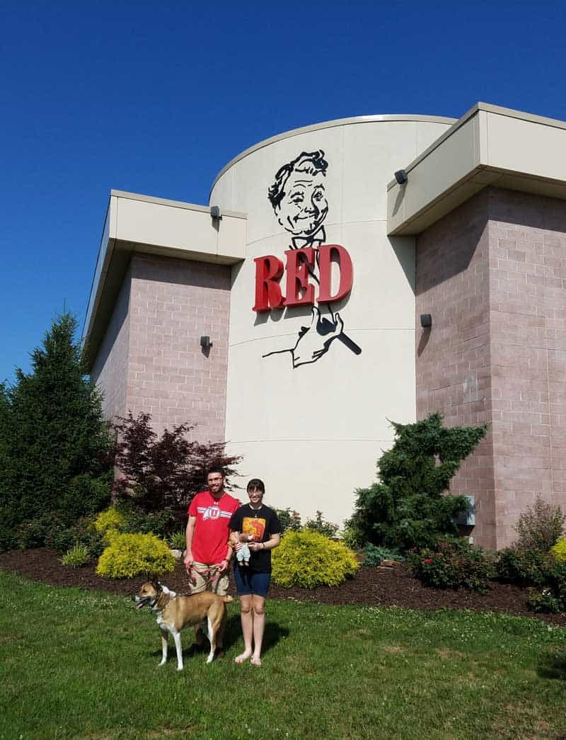 standing outside the red skelton museum of american comedy