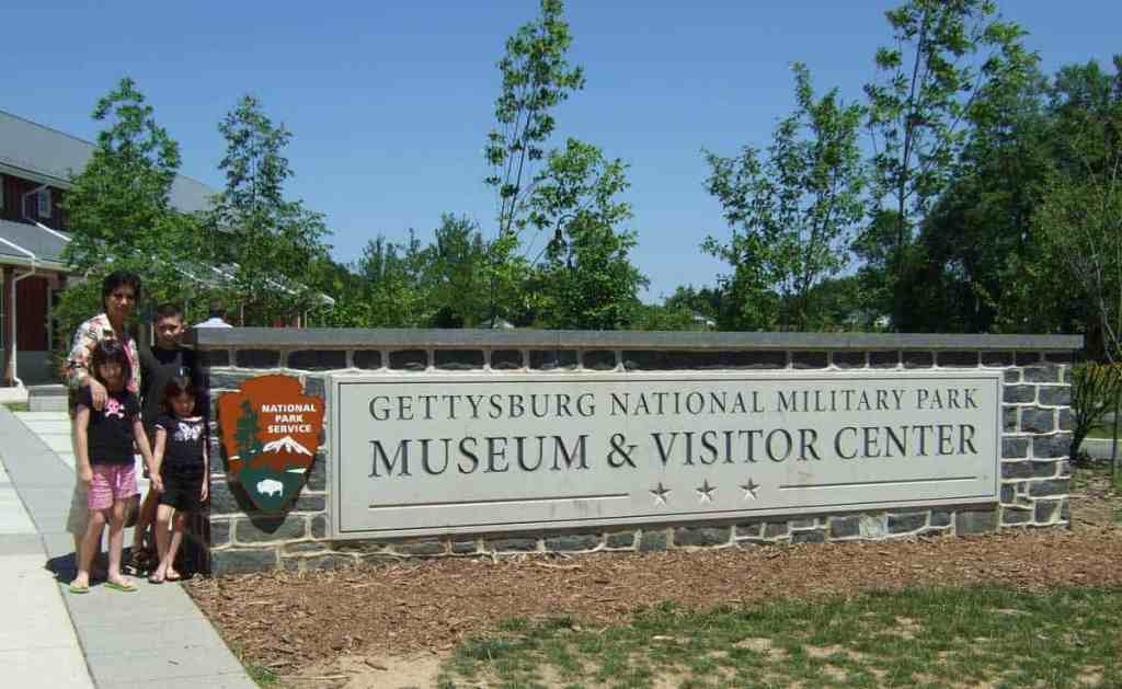 Outside the fancy new visitors center and museum at Gettysburg National Military Park