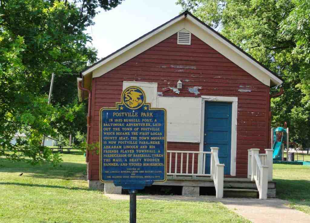 Want to play baseball or horseshoes where Lincoln once played? Then be sure to stop by Postville Park in Lincoln, IL.